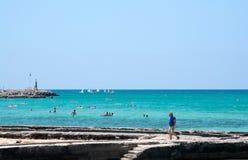 Жизнь пляжа лета Arenal Стоковая Фотография RF