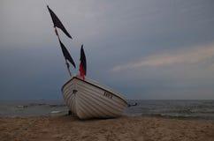Жизнь пляжа на Балтийском море Стоковое Фото