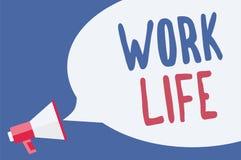 Жизнь работы текста сочинительства слова Концепция дела для ежедневной задачи к деньгам ern вытерпеть потребности one loudspea ме иллюстрация штока
