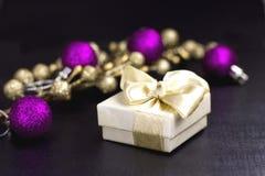 жизнь рождества предпосылки черная все еще Стоковое Изображение RF