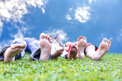 Жизнь семьи enyojing Стоковое Изображение