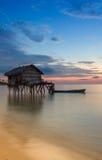 Дом laut Bajau Стоковое фото RF