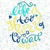 Жизнь слишком коротка Стоковое фото RF