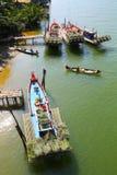 Жизнь с местными рыболовами Стоковые Фото