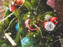 жизнь украшений рождества все еще Стоковое фото RF