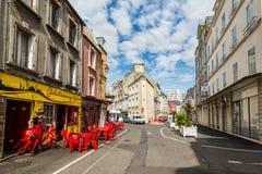 Жизнь улицы в cherbourg-Octeville, Нормандии, Франции Стоковые Фотографии RF