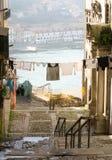 Жизнь улицы в районе Ribeira, Порту, Португалии Стоковые Изображения