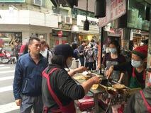 Жизнь улицы в Тайбэе, Тайване стоковые изображения