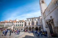 Жизнь улицы Дубровника, Хорватия Стоковое фото RF