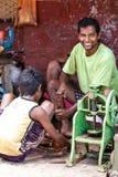 Жизнь улицы - Янгон, Мьянма Стоковая Фотография