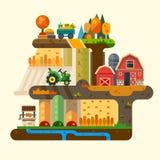 Жизнь фермы иллюстрация штока