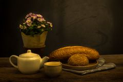 жизнь хлеба все еще Стоковая Фотография RF