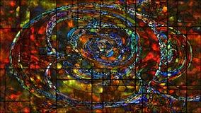 Жизнь цифров цветного стекла Стоковое Изображение