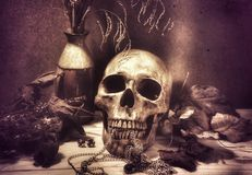 жизнь halloween все еще Стоковые Фотографии RF