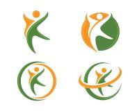 Жизнь Healhty и логотип потехи Стоковые Изображения RF