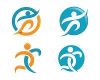 Жизнь Healhty и логотип потехи Стоковые Фотографии RF