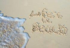 жизнь s пляжа Стоковое Фото