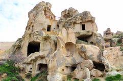 Жилища первых христиан в утесах, Cappadocia, центральной Турции стоковые изображения