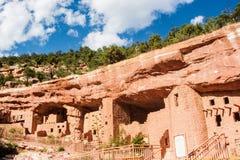 Жилища скалы в Колорадо-Спрингс, CO Стоковое фото RF