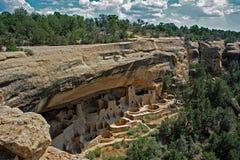 Жилища скалы в национальном парке мезы Verde Стоковая Фотография RF
