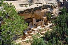 Жилища скалы в национальном парке мезы Verde Стоковые Фотографии RF