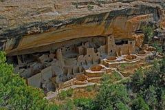 Жилища скалы в национальном парке мезы Verde Стоковые Фото