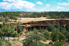 Жилища скалы в национальном парке мезы Verde Стоковое Изображение RF