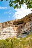 Жилища скалы на национальном монументе замка Montezuma Стоковая Фотография RF