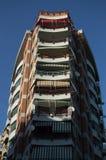 Жилой жилой дом в центре города Тираны Стоковое Фото