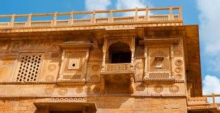 Жилой дом на форте Jaisalmer, Jaisalmer, Раджастхан, I Стоковая Фотография