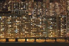 Жилой квартал на ноче Стоковая Фотография