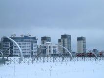 Жилой квартал на окраинах города Стоковое Изображение