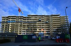 Жилой жилой квартал под конструкцией в Bracknell, Англии Стоковое фото RF