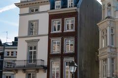 Жилые дома Аахен в центре города стоковые фотографии rf