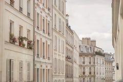 Жилые дома в Париже, Франции Стоковое Изображение
