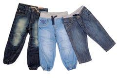3 джинсыа различных детей Стоковое Изображение RF
