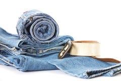 джинсыы джинсовой ткани Стоковые Фотографии RF