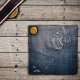 джинсы текстуры Стоковая Фотография RF