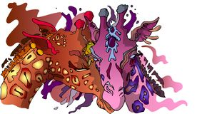 Жирафы Юта ¡ Ð иллюстрация вектора