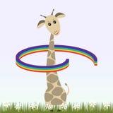 Жираф и радуга Стоковые Фото