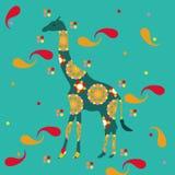 Жираф с восточными дизайнами Стоковая Фотография