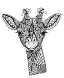 Жираф Zentangle Стоковые Изображения