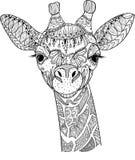 Жираф Zentangle Стоковая Фотография
