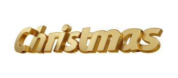 Жирные буквы рождества изолировали 3d-illustration бесплатная иллюстрация