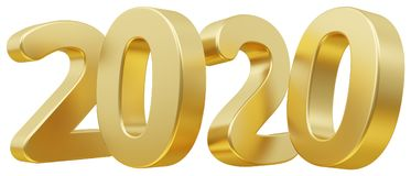 2020 жирных букв 3d-illustration Стоковое Фото