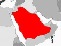 житель Саудовской Аравии карты Аравии иллюстрация вектора