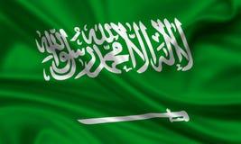 житель Саудовской Аравии флага Аравии Стоковые Изображения RF