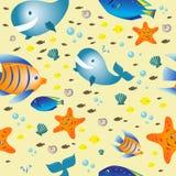 Жителя моря - безшовной текстуры бесплатная иллюстрация