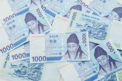 Житель Южной Кореи выиграл валюту Стоковая Фотография RF