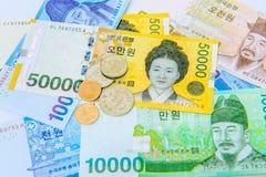 Житель Южной Кореи выиграл валюту стоковые фото